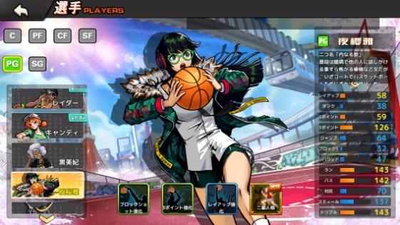 シティダンクで最強のPG(ポイントガード)キャラクター 夜櫻雅