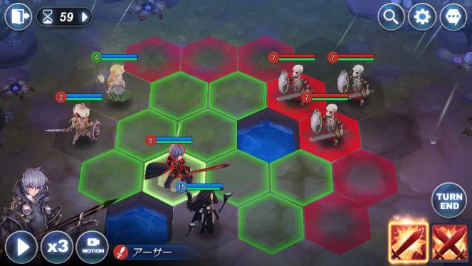 シミュレーションRPG|おすすめアプリランキング|キングダムオブヒーロー|バトルマップ