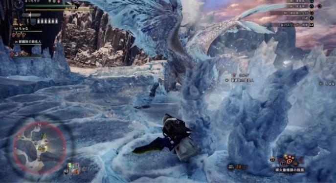 【MHWアイスボーン】イヴェルカーナ攻略!立ち回り モーション解説 氷ブレス(前方)2