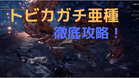 【MHWアイスボーン】トビカガチ亜種の攻略!対策や弱点